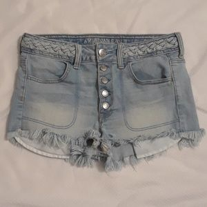 American Eagle Outfitters Button Fly/Braided Short